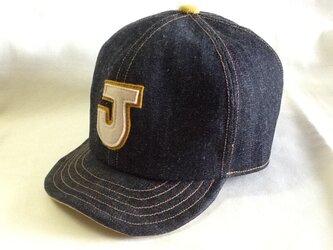 『特別注文品』アルファベットキャップ ネップのデニム『J』の画像