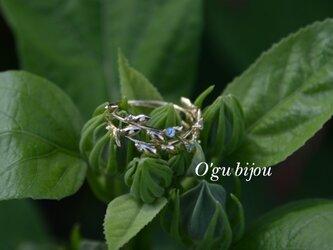 K18 Olive Leaf Ring Wの画像