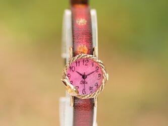 夢みるうさぎ腕時計Sチェリーの画像