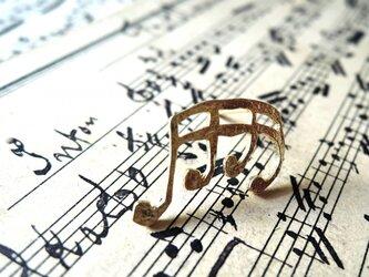 音符のピアス(4連符)の画像