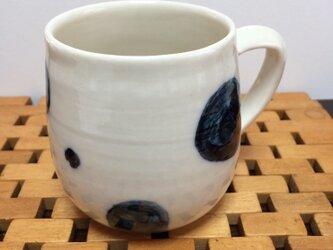 砥部風マグカップ(水玉)の画像