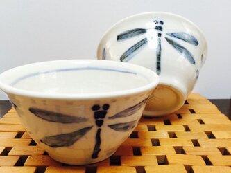 砥部風小鉢2個セット(トンボ)の画像