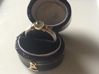 『Sさまオーダー』ライムガーネットのsilver&goldのリングの画像