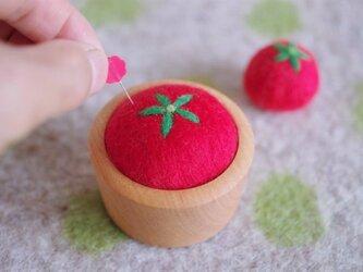 羊毛ピンクッション【針山】トマトの画像