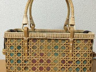 八ツ目編みバッグの画像