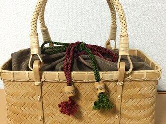波網代編みバッグの画像