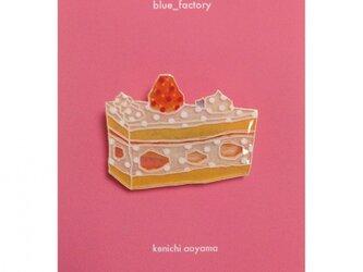 スイーツブローチ(三角ショートケーキ1)の画像