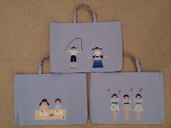 【入園,入学準備】子供用手提げかばん・お稽古バッグの画像