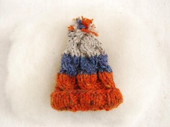 【orange-blue】NitHat ブローチの画像