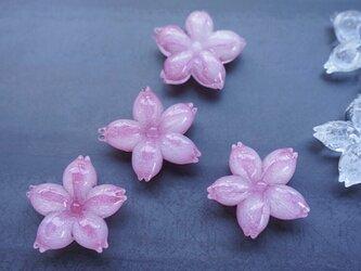 ガラスの桜はしおき   淡く色づきましたの画像