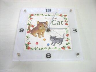 アクリル時計(Cat)の画像