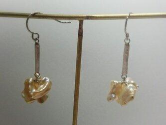 「Ichirin」  Pearl・Silver pierce (Champagne Pink)の画像