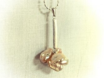 「Ichirin」  Pearl・Silver Necklace (Champagne Pink)の画像