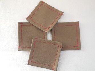 コースター 4枚組の画像
