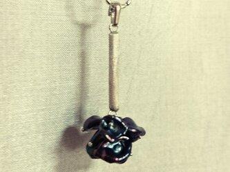 「Ichirin」  Pearl・Silver Necklace (Black)の画像