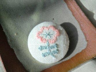 ふちどりのお花(ピンク)の画像