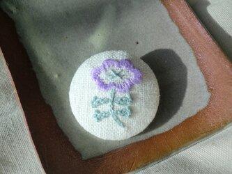 ふちどりのお花(紫)の画像