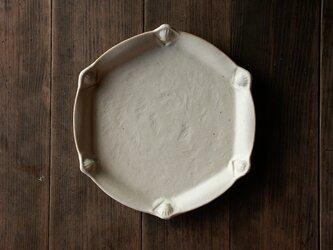 パイ皿(貝殻と青海波)※耐熱土使用の画像