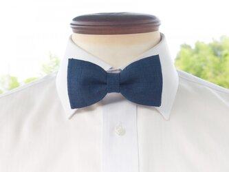 TATAN 和調変り織り蝶ネクタイ(藍色)の画像