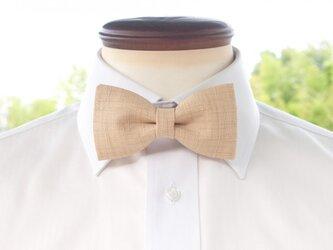 TATAN 和調変り織り蝶ネクタイ(練色)の画像