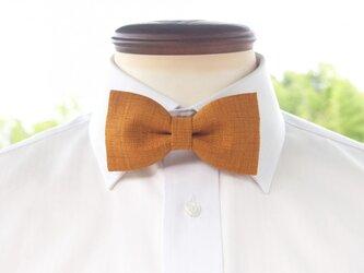 TATAN 和調変り織り蝶ネクタイ(からし色)の画像