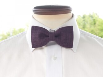 TATAN 和調変り織り蝶ネクタイ(紫色)の画像