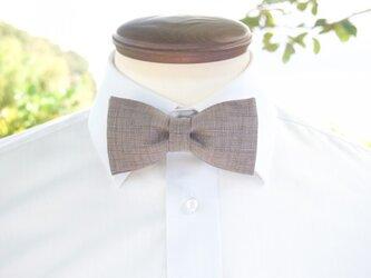 TATAN 和調変り織り蝶ネクタイ(灰色)の画像