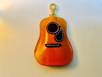 (受注製作) アコースティックギター / レザーキーケース / CAMELの画像