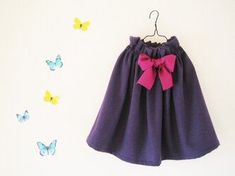 パープルのスカートの画像