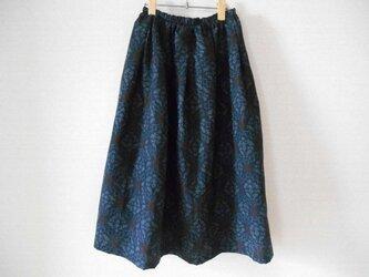 石毛結城紬の着物リメイクスカートの画像