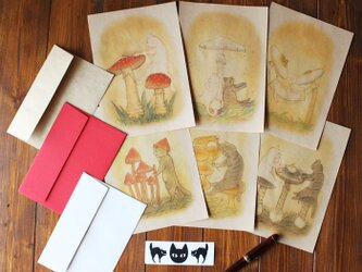 猫とネコの6種のレターセットの画像