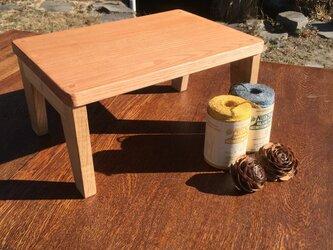 キッズテーブル(小)・・天板柿渋塗装タイプ・・用途いろいろの画像