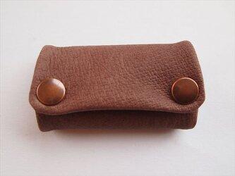 【フルブラウン】ぶた革やわらかキーケース【受注生産】茶レザーの画像
