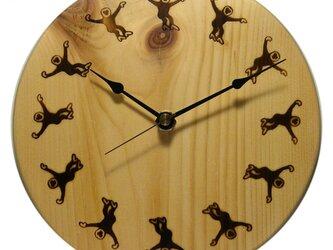 テナガザルの焼き印時計 (Monkey go round CLOCK)の画像