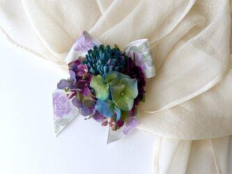 浴衣やお着物に 紫陽花の髪飾りの画像