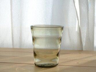 波紋のグラス (グリーン)の画像