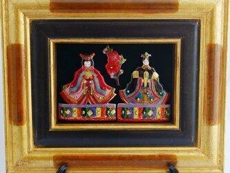 七宝焼 飾り額 雛人形(大)の画像