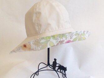 受注製作 リバティ雨帽子 リバーシブルレインハット 59の画像