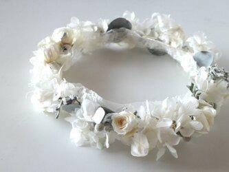 プリザーブドフラワー 花冠の画像