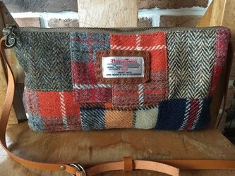HarrisTweedと倉敷帆布のminiショルダーバッグの画像