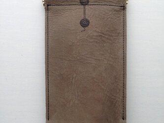 本革モノイレ【enveloppe】カーキブラウンの画像
