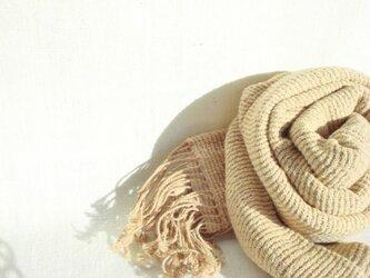 〈手織り〉ストール*摸紗タマネギの画像