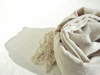 〈手織り〉ストール*リネンの画像