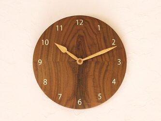 掛け時計 丸 ブラックウォールナット③の画像