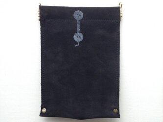 本革モノイレ【enveloppe】ブラックの画像