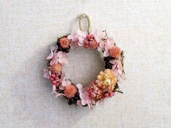 ふんわり可愛い♡ピンクのミニリース♪の画像