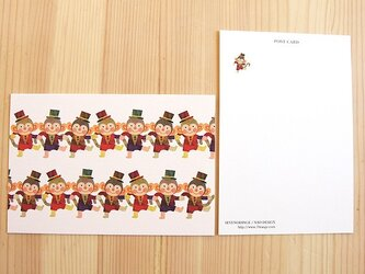 セブンオレンジ ポストカード(おさるダンス)2枚組の画像