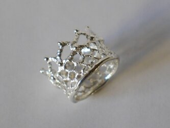 再販★crown lace ring(sv)の画像