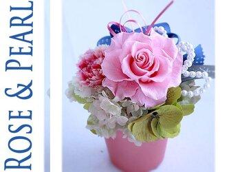Rose & Pearl プリザーブドフラワーの画像