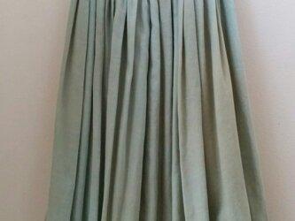草木染め  プリーツスカート  センダングサ×藍の画像